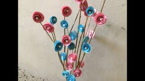 Branch Decor How To Make Paper Rose Tree Bunch Tree Branch Decor Ideas Youtube