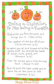 Poem On Halloween Being A Christian Is Like Being A Pumpkin Free Printable