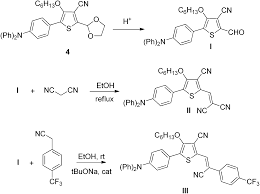 syntheses via a direct arylation method of push u2013pull molecules