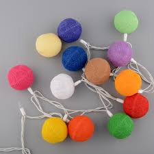 cotton 20 lights string lights battery operated for