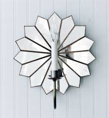 Mirrored Wall Sconce Dahlia Antique Mirror Wall Sconce By Worlds Away Scd2w