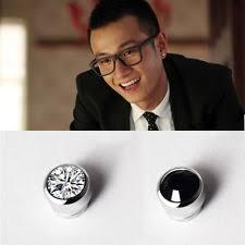 guys with diamond earrings black magnetic earrings men ebay