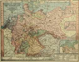map germany map of the german empire and the netherlands 1885
