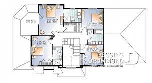 plan etage 4 chambres plan maison à étage avec 4 chambres modèles dessins drummond