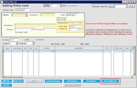 petty cash entry template application support