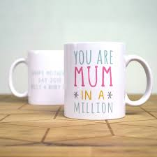 mothers day mugs personalised one in a million mothers day mug by oakdene designs