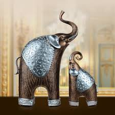 resin royal noble elephant and decorative study crafts