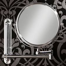 Extendable Magnifying Bathroom Mirror Tila Sided Extendable Magnifying Bathroom Mirror Chrome