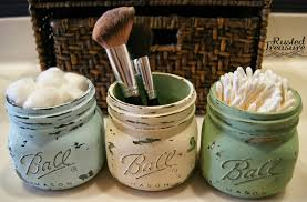 11 fantastic small bathroom organizing ideas painted distressed ball jars used for bathroom organization using small painted