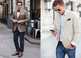 how to wear the sports jacket with jeans