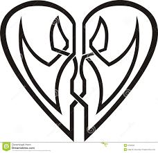 tribal tattoo heart stock photography image 22812772