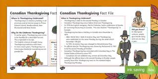 thanksgiving fact file