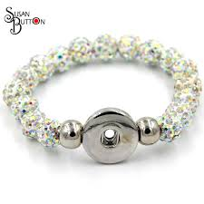 rhinestone bracelet charms images 10mm pave rhinestone shamballa beads snap button bracelet for jpg