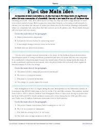 main idea worksheets major art periods