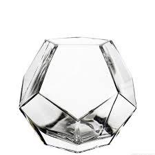 Bud Vase Wholesale 6 Inch Geometric Faceted Gem Glass Vase Vase Market