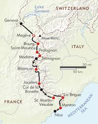St Martin Map Mont Blanc To The Mediterranean Itinerary U0026 Map Wilderness Travel