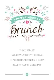 brunch invitation template flat floral free printable brunch invitation template