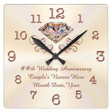 anniversary clock gifts personalized diamond gold anniversary clock home gifts