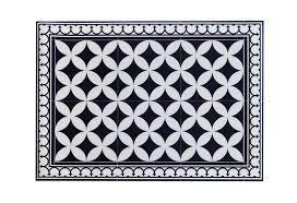 Black Kitchen Rugs Pvc Vinyl Mat Tiles Pattern Decorative Linoleum Rug U2013 Color Black