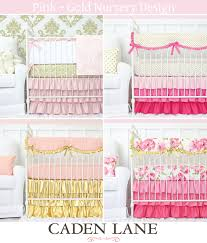 Mix And Match Crib Bedding Pink And Gold Baby Bedding Caden