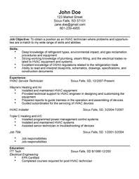 hvac resume exles hvac technician resume sle diplomatic regatta