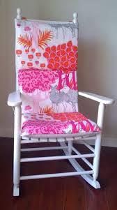 Nursery Rocking Chair Cushions Rocking Chair Cushion Cover Pink Forest Yellow Polka Dot