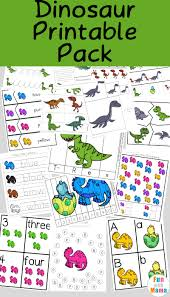 dinosaur preschool printable pack fun mama
