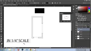 scale a plan on photoshop youtube