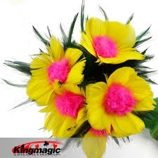 feather flower aliexpress buy miracle flower feather flower magic tricks