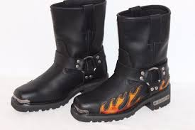 dingo motorcycle boots mens leather dingo size 9 1 2 d harness leather black motorcycle