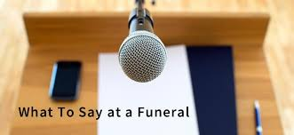 sample comforting words to say at a funeral