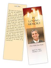 memorial bookmarks keepsake bookmarks for your loved one s funeral
