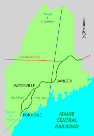 Green Line Map Boston by Maine Central Railroad Main Line Wikipedia