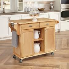 Wheeled Kitchen Islands Home Styles Napa Natural Kitchen Cart With Storage 5099 95 The