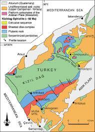 Ma Map Schematic Geological Map Of The 92 Ma Kizildaˇgkizildaˇg