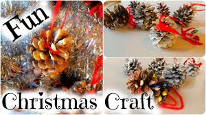 how to make a pinecone christmas tree ornament easy kid