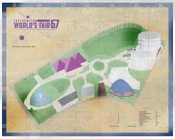1964 World S Fair Map by Strange Southampton World U0027s Fair 1967