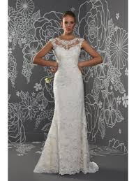 fitted wedding dresses penelope illusion neckline fitted lace wedding dress