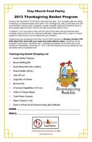 list of requested items for thanksgiving food drive