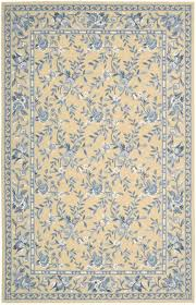 Nourison Kitchen Rugs Nourison Traditional Country Blue And Yellow Floral Rug