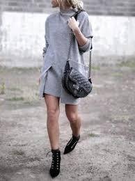 sweater dress in grey with pockets perfect winter dress u2013 lyfie
