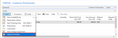 automatically defer revenues or expenses in microsoft dynamics nav