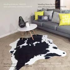 Black Cowhide Rugs Cow Skin Rug Brown U0026 White Cowhide Rug Size 74u0027 X 6u0027