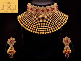 gold bridal set beautiful bridal set jkj jewellers bridal sets