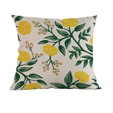Thanksgiving Pillow Covers Online Shop Tropical Flowers Birds Print Home Decoration Sofa