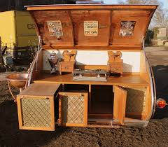 fantastic looking steampunk teardrop trailer comes equipped with a