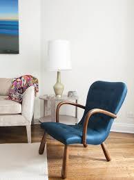 photos hgtv midcentury modern blue armchair in coastal bedroom
