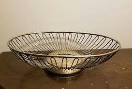 metal fruit basket vintage mid century wire metal fruit basket bowl 10 sculpture