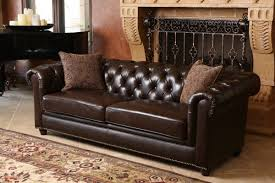Are Chesterfield Sofas Comfortable by Darby Home Co Lizzie Leather Chesterfield Sofa U0026 Reviews Wayfair