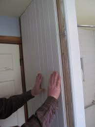 installing beadboard panels in bathroom